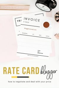Ratecard Blogger
