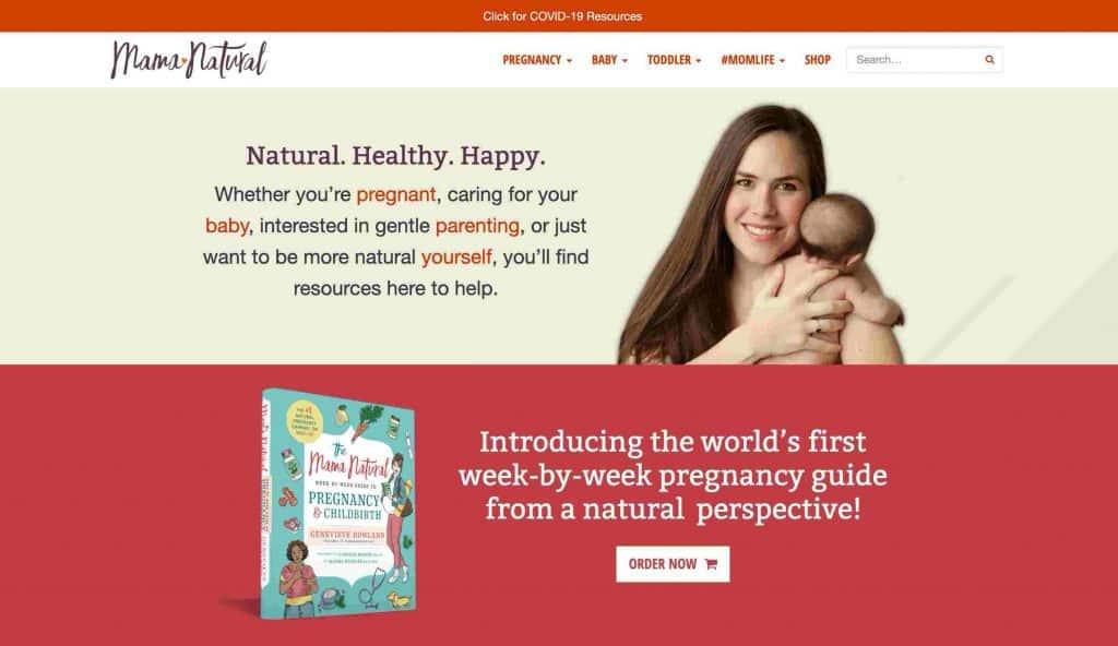 Contoh Blog Pribadi Mama Natural