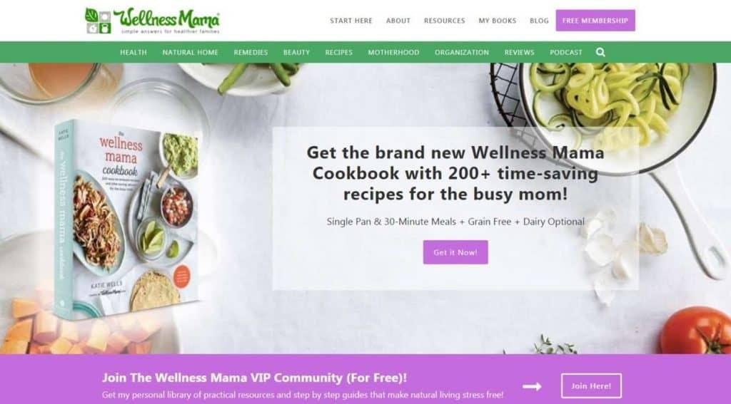 Contoh Blog Pribadi Sukses Wellness Mama