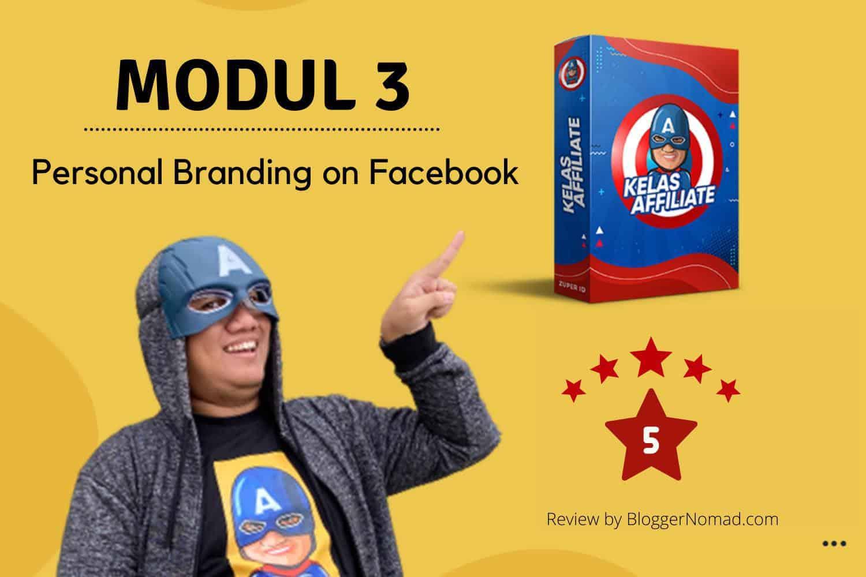 Materi Kelas Affiliate 3 Personal Branding on Facebook